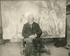 ~Cezanne in his studio