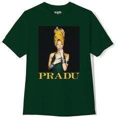 PRADU TEE GREEN (52 NZD) ❤ liked on Polyvore featuring tops, t-shirts, cotton tees, unisex tops, green tee, green top and green t shirt