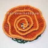 Вязаные цветы по спирали