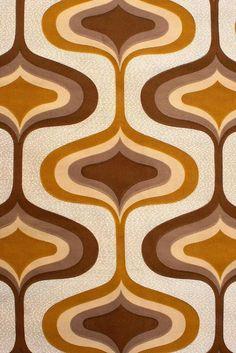 70s fabric wallpaper