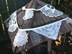 Vintage Doily Garland by IvyandCompany on Etsy, $35.00  9 feet long!