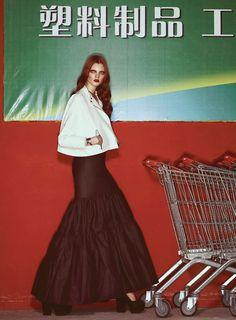 Anastasia Ivanova by Andrew Yee in Chinatown (stylist: Francesca Rinciari) for S Moda May 2012