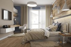 Дизайн спальни в таунхаусе