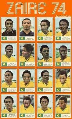 Zaire stickers for the 1974 World Cup Finals.