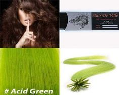 25 Strands Straight Micro Ring Links Locks Beads Keratin Stick I Tipped Pre Bonded Human Hair Extensions Green Color * This is an Amazon Affiliate link. Click on the image for additional details.
