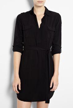 Splendid Black Shirting Dress in Black | Lyst