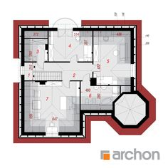 Projekt domu Dom pod juką - ARCHON+ My House Plans, Modern House Plans, Modern House Design, Bungalow Style House, Modern Farmhouse Exterior, Home Fashion, Interior Architecture, Floor Plans, How To Plan