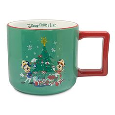 Disney Cruise Line Holiday Mug | shopDisney Disney Visa, Disney Cruise Line, Bare Necessities, Disney Christmas, Personalized Products, Vacation, Mugs, Tableware, Holiday