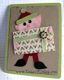 Tinker With Ink & Paper: Punch Art Elf for Christmas Club Too