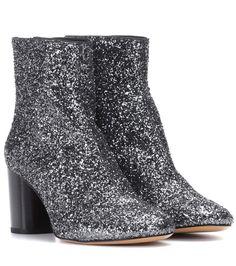 Isabel Marant - Ritza glitter-coated ankle boots | mytheresa.com