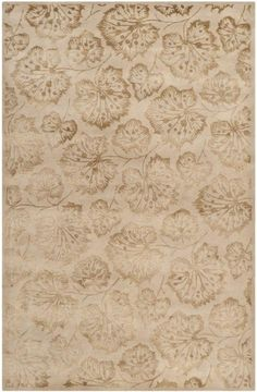 MSR3260J-Geranium Leaf Rug from Martha Stewart collection.  Martha's love of crafts is evident in Geranium Leaf a design inspired by a vintage French jacquard ribbon from the 1920s. The intricately detailed leaves d