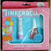 tinkerbell brand lip balms, scented lotions, & peel off nail polish