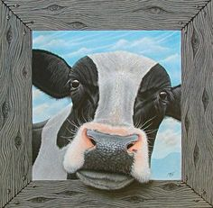Got Milk? I have been painting, using acrylics on canvas, since 2008. I use both an airbrush and traditional brushes to render the artwork.  Fortunately, I have