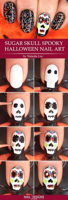 Creative but Easy Halloween Nails Designs You Can Copy ★ See more: https://naildesignsjournal.com/easy-halloween-nails-creative-ideas/ #nails