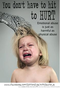You Don't Have to Hit to Hurt... Emotional Abuse is just as harmful as physical abuse!