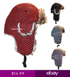 2f715bb3 WOMEN FASHIONISTA SPARKLE TRAPPER BOMBER HAT FAUX FUR - BLACK RED PINK  WHITE H11