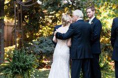 Wedding ceremony Chico, California backyard wedding by TréCreative Film&Photo trecreative.com