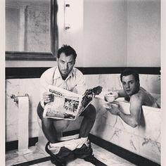 Style Icons: Jude Law + Ewan McGregor. #styleicon #thebuttonmakerishere #thebuttonmaker #thebtnmkr #josephknoop