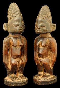 Yoruba Ere Ibeji (Twin Figure), Owu - Ibadan, Nigeria http://afriart.tumblr.com/post/92178826589/nigeria-yoruba-ere-ibeji-twin-figure-owu