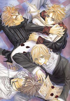 Tags: Anime, Vampire Knight, Matsuri Hino, Reading, Aerial View, Ichijou Takuma, Kain Akatsuki
