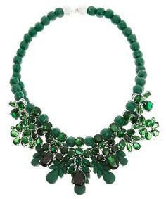 Emerald Crystal and Bead Rubber Necklace, Ek Thongprasert
