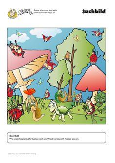Spielerisches Arbeitsblatt für Kindergarten und Grundschule: Finde ...