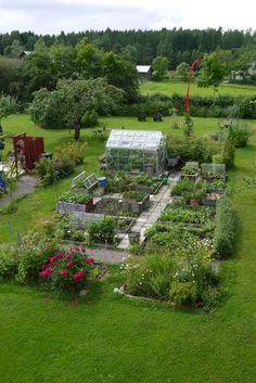 Där Framme i trädgården Farm Projects, Garden Projects, Projects To Try, Veg Patch, Edible Garden, Beautiful Gardens, Garden Landscaping, Farmer, Garden Design