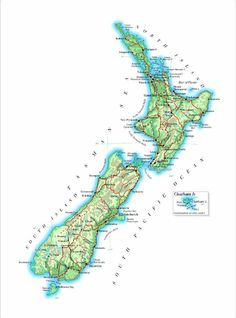 Detailed map  New Zealand