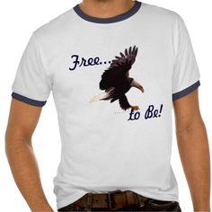 Landing Bald Eagle Wildlife Action Photo Art Tee Shirt collection