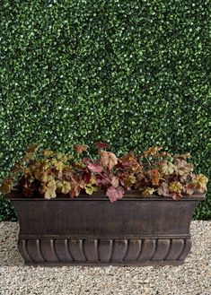 Our all-weather Tuscany Trough Planter is a classic planter for your garden, terrace or entryway. It provides 2-1/2 feet of planting space while coordinating beautifully with our Classical Tuscany Urn. Each is durably crafted of fiberglass and given a lasting, hand-rubbed finish. Trough Planters, Urn, Tuscany, Planting, Cleaning Wipes, Terrace, Entryway, Weather, Space