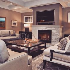 15 Modern Day Living Room TV Ideas Contemporary Living Room Design, Pictures, Remodel, Decor and Ideas - page 3 Design Living Room, Living Room On A Budget, Family Room Design, Living Room Tv, Home And Living, Modern Living, Small Living, Cozy Living, Modern Family