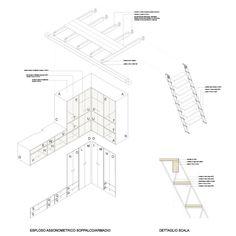 Alfredo Borghi, Cecilia Carattoni, Tipi Studio · Casa R Woodworking Guide, Custom Woodworking, Woodworking Projects Plans, Teds Woodworking, Wood Staircase, Stairs, Contemporary Architecture, Architecture Design, Tiny Studio