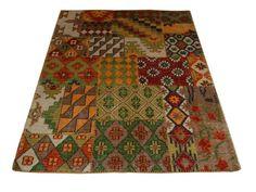 Multifarget vevd teppe med asymetrisk mønster Bohemian Rug, Rugs, Decor, Home Decor