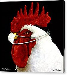 By Will Bullas Painting by Will Bullas - Dr. By Will Bullas Fine Art Prints and Posters for Sale Fancy Chickens, Chickens And Roosters, Chicken Painting, Chicken Art, Farm Animals, Funny Animals, Cute Animals, Animal Paintings, Animal Drawings