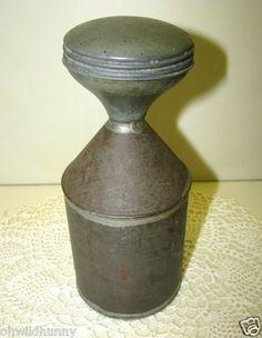 Vintage Primitive Early 1900's Tin Laundry Sprinkler / Shaker