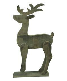 Another great find on #zulily! Standing Wood Reindeer #zulilyfinds