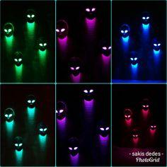 RGB  LED  strip  masks.