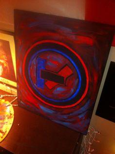 #twentyonepilots #painting Volkswagen Logo, Twenty One Pilots, My Arts, Neon Signs, Logos, Painting, Logo, Painting Art, Paintings