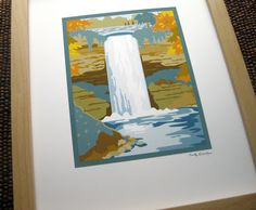 HandmadeMN Giveaway ~ Enter to win this beautiful Minnahaha Falls Illustration by Cindy Lindgren!