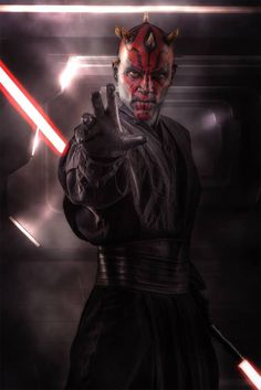 A Zabrak from Dathomir, Darth Maul was the first Sith apprentice of Darth Sidious. Wielding a Double Bladed Lightsaber, Darth Maul was sent to fight the Jedi Knights Qui-Gon Jinn and Obi-Wan Kenobi during the Invasion of Naboo. Even though he was defeated by Kenobi and believed dead, the fallen Sith apprentice returned years later during the Clone Wars to seek revenge on him. Darth Maul is also the brother of Savage Opress and son of Mother Talzin.
