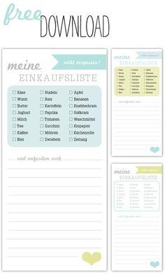 Einkaufsliste zum Download von http://sodapop-design.de