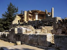 Palace of Minos, South Propylaea, Knossos, Crete, Greece