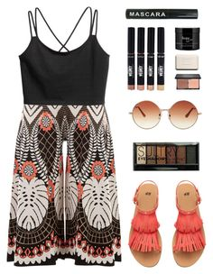 """Culottes"" by amazing-abby ❤ liked on Polyvore featuring Temperley London, H&M, Topshop, blacklUp, Chanel, Boohoo, Bare Escentuals and philosophy"