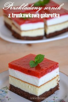 Polish Recipes, Mini Cakes, Cheesecakes, Delicious Desserts, Food Porn, Food And Drink, Sweets, Baking, Eat