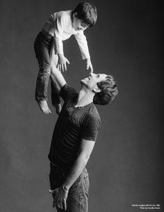 Etienne Lavigne with his son, Max. Photo by Karolina Kuras.