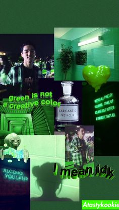 Credit to me🔫 #kpop #Dean #green Green Aesthetic Tumblr, Dark Green Aesthetic, Neon Aesthetic, Aesthetic Collage, Iphone Wallpaper Green, Cool Wallpaper, Wallpaper Ideas, Aesthetic Pastel Wallpaper, Aesthetic Wallpapers