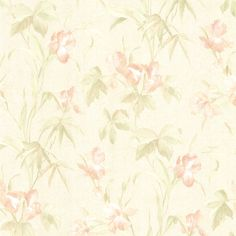 "For Your Bath II Yvonne Satin Iris 33' x 20.5"" Floral Wallpaper"