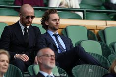 Tom Hiddleston and Laurence Spellman attend Ladies' Doubles Final at the Wimbledon 2019 Tennis Championships at All England Lawn Tennis and Croquet Club on July 2019 in London, England. Thomas William Hiddleston, Tom Hiddleston Loki, Thor 1, Thomas Sharpe, Loki Laufeyson, Wimbledon, Perfect Man, Marvel Dc, Beautiful Men