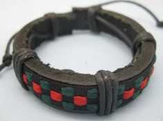 Shoply.com -Leather bracele by cloth and rope cover the leather made  Cuff bracelet. Only $3.99
