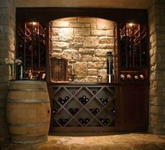 What the wine cellar in Drake's mansion might've looked like... #WineStorage #WineCellar